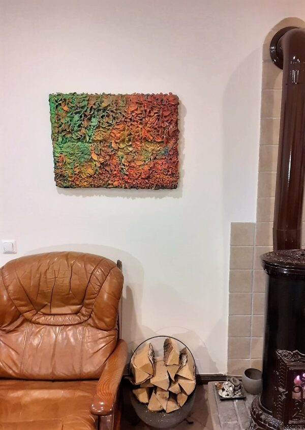 """Painting """"Fill thy hungry eyes even till they wink with fullness"""" by W2W. Interior shot"""