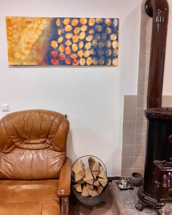"""Painting """"If there be nothing new, but that which is hath been before"""" by W2W. Interior shot"""