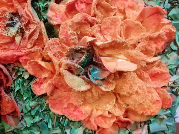 """Painting """"Fair flowers that are not gather'd in their prime"""" by W2W. Close up"""