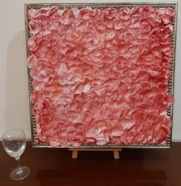 """Cotton painting """"What is your substance, whereof are you made"""". Alternative view"""