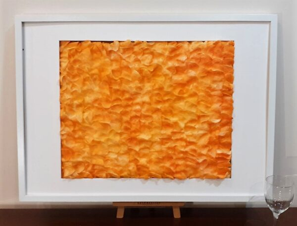 """Painting """"Sport! of what colour?"""" by W2W. Alternative view in a white frame"""