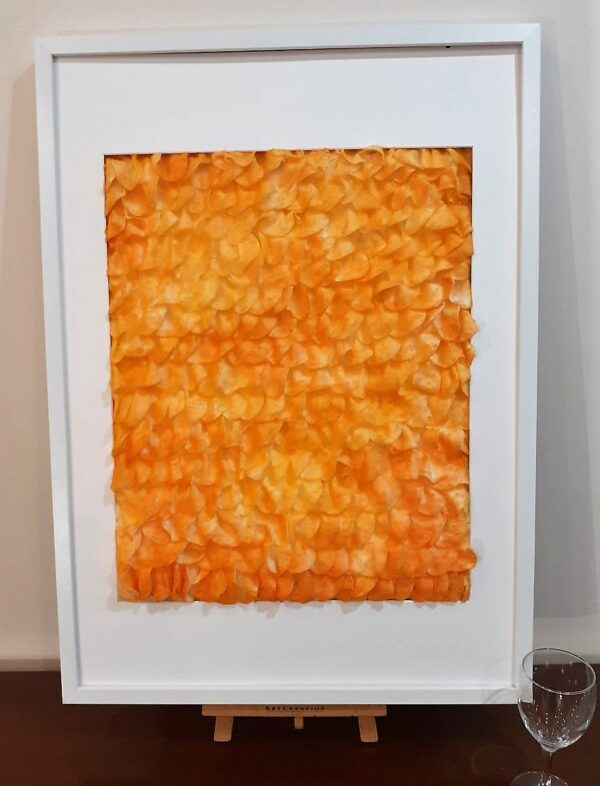 """Painting """" Sport! of what colour?"""" by W2W. White frame"""