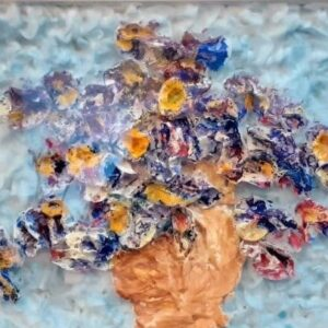 """Cotton painting """"And beauty slandered with a bastard shame"""" by W2W close up"""